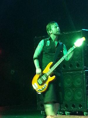Stevie Benton - Benton performing with Drowning Pool in 2014