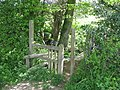 Stile on the path from Glovers Road, Charlwood to Glovers Wood - geograph.org.uk - 1275927.jpg