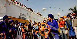 The Khalsa celebrating the Sikh festival Hola Mohalla or simply Hola.