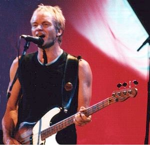 Sting (musician) - Sting on stage in Budapest during January 2000