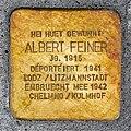 Stolperstein Albert Feiner Esch-Alzette, 49 rue Léon Weirich 01.jpg