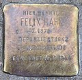 Stolperstein Aschaffenburger Str 22 (Wilm) Felix Hahn.jpg