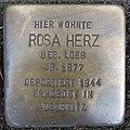 Stolperstein Düren Weierstraße 9 Rosa Herz.JPG