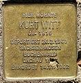 Stolperstein Elberfelder Str 20 (Moab) Kurt Witt.jpg
