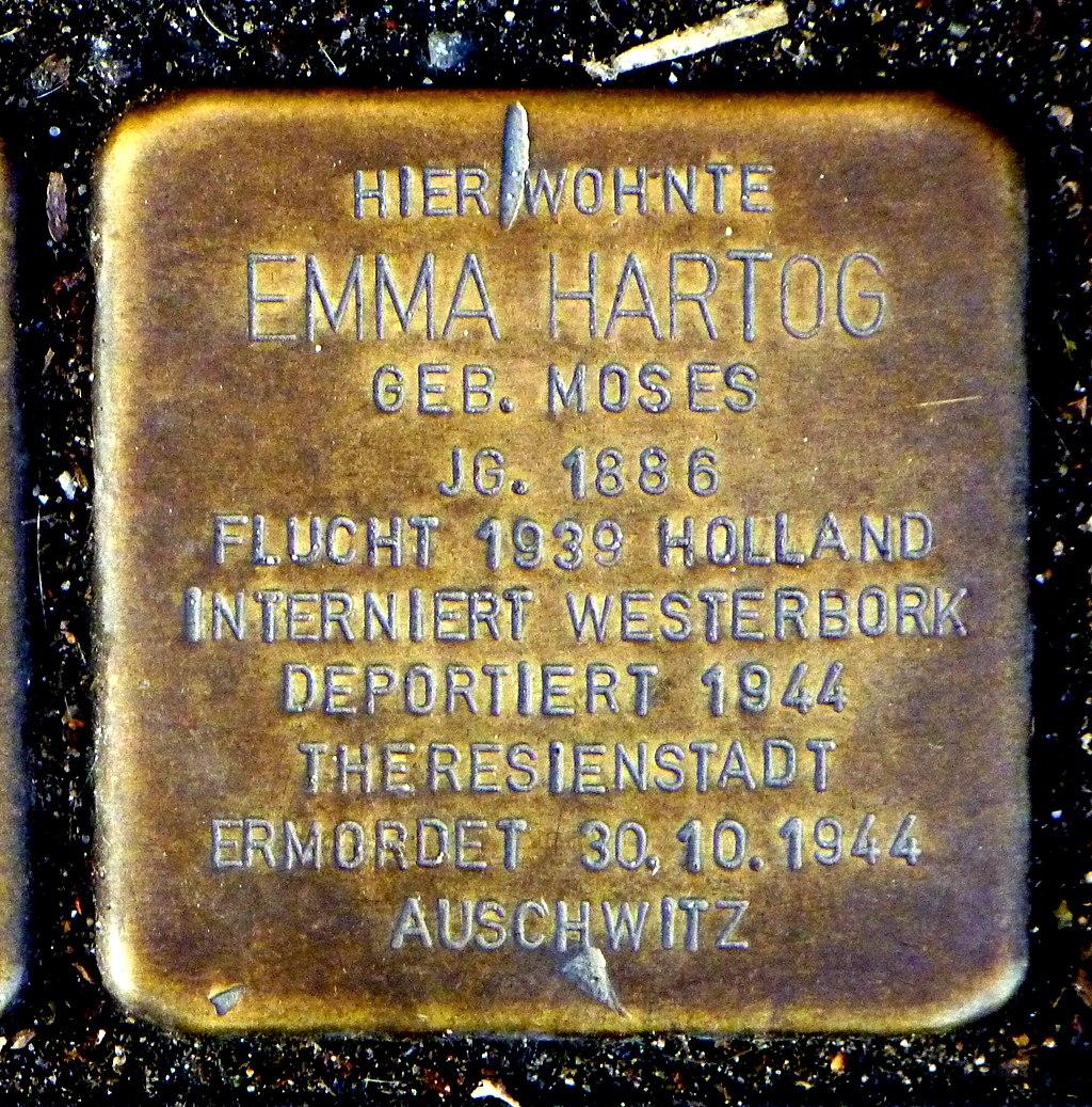 Stolperstein Emma Hartog - Aachen.JPG