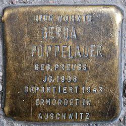 Photo of Gerda Poppelauer brass plaque
