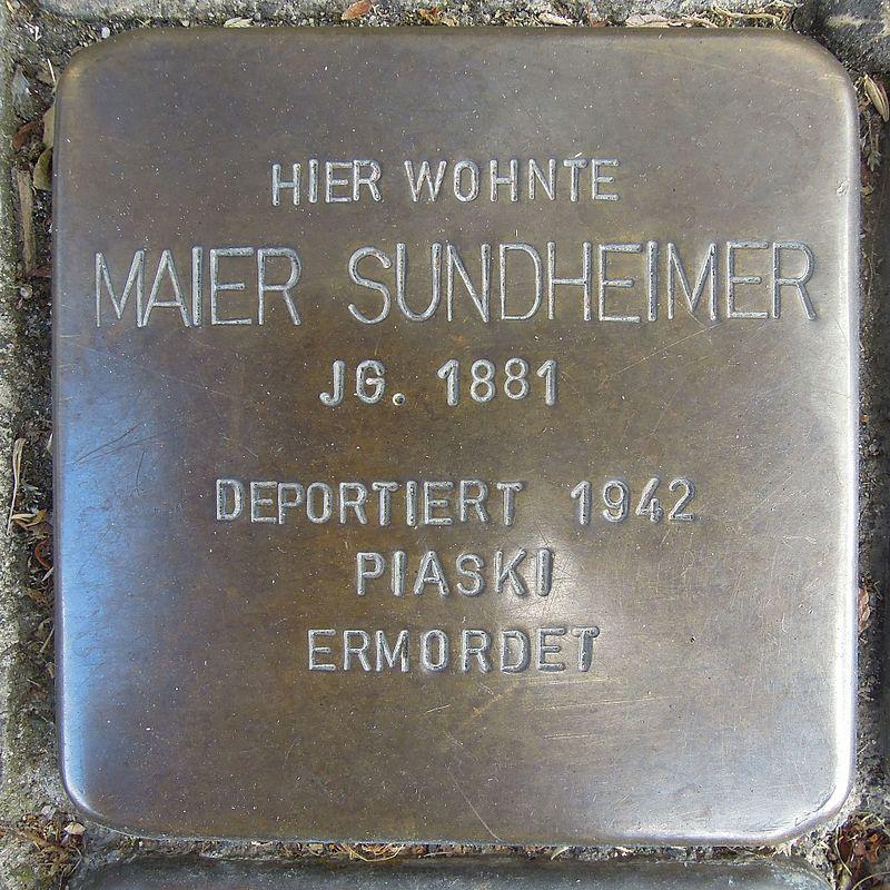 Stolperstein für Maier Sundheimer