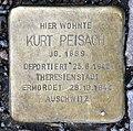 Stolperstein Konstanzer Str 55 (Wilmd) Kurt Peisach.jpg