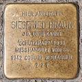 Stolperstein Siegfried Braun by 2eight 3SC1334.jpg