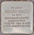 Stolperstein für Miklos Radnoti - Radnoti Miklos (Budapest).jpg