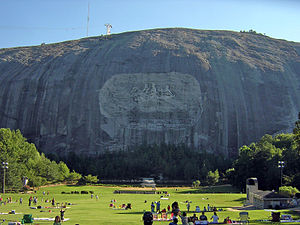 Gutzon Borglum - Stone Mountain located near Atlanta, Georgia