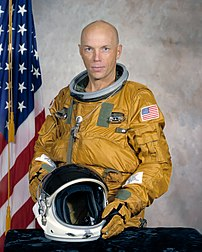 Retired bald NASA astronaut Story Musgrave.