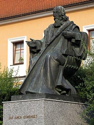 Strážnice (Hodonín District) - Image: Straznice pomnik Komenskeho