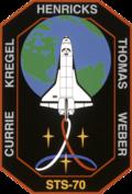 Missionsemblem STS-70