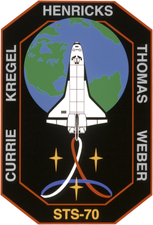 Donald A. Thomas - Image: Sts 70 patch