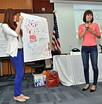 Students join the 'USAID and Higher Education in Vietnam' talk (8202364714).jpg