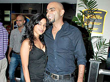 Garg with her husband Raghu Ram at The Antiquity-Club Fusion