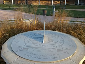 Triton College - Image: Sundial at Triton