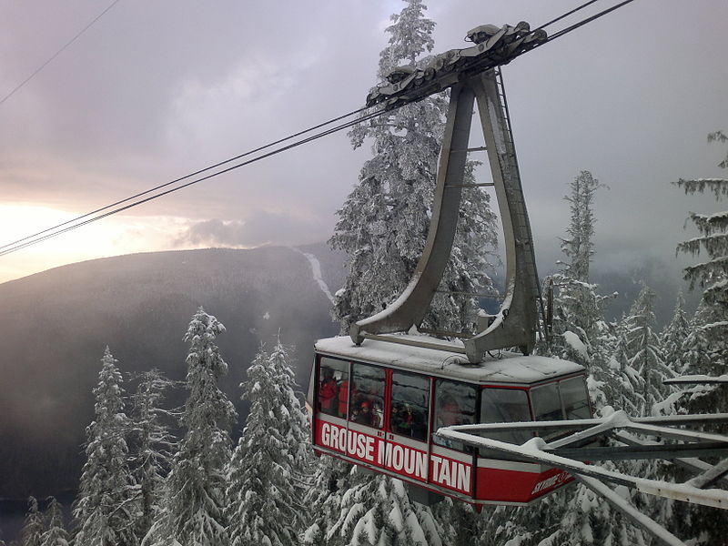 Grouse Mountain gondola. From Discover Vancouver: Off the Beaten Path