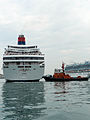 Superstar Aquarius Moving in Port of Keelung 20140518m.jpg