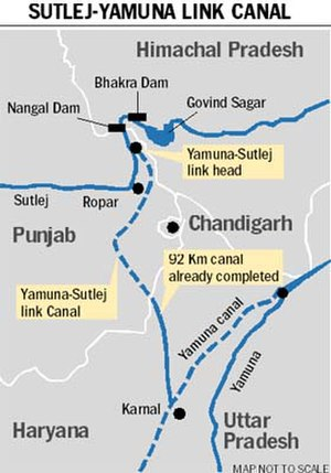 Sutlej Yamuna link canal - Proposed Canal Link - Status as on March 2016