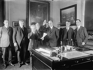 William Marion Jardine - Jardine was sworn in office as the Secretary of Agriculture.