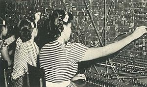 Communications in Indonesia - Switchboard operators in Indonesia, c. 1953
