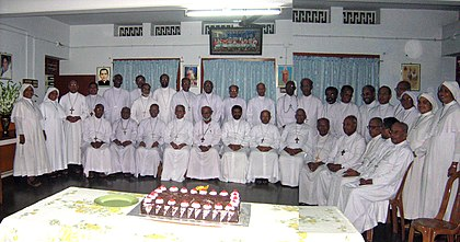 Syro-Malabar bishops at the Generalate of Sisters of the Destitute Syro Malabar Bishops at Mar Varghese Payyappilly Palakkappilly S D Convent.jpg