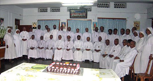 Syro-Malabar bishops at the Generalate of S. D. Syro Malabar Bishops at Mar Varghese Payyappilly Palakkappilly S D Convent.jpg