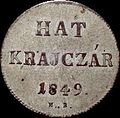 Szh 6 krajczár 1849 reverse.jpg