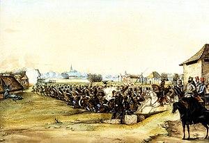 Károly Vécsey - Second Battle of Szolnok by Than Mór