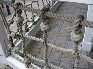 Turk's head knot - Turk's head knots on netting