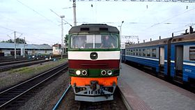 Файл:TEP70-0381 coupling with train, Molodechno.webm