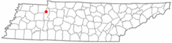 Location of Big Sandy, Tennessee