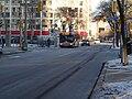 TTC bus 7793 proceeding west on the Esplanade, 2015 01 13 (6) (16280024422).jpg