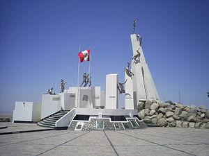 Tacna Region - Monument to the Battle of Tacna in the Alto de la Alianza, Cerro Intiorko in Tacna.