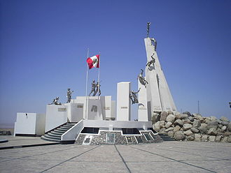 Tacna - Monument to the Battle of Tacna in the Alto de la Alianza.