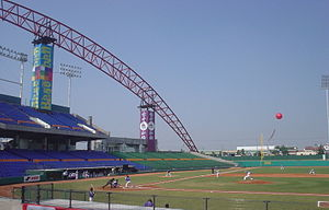 Taichung Intercontinental Baseball Stadium - First pitch in a competitive game at the stadium in a game between the Philippines and South Korea in the 2006 Intercontinental Cup