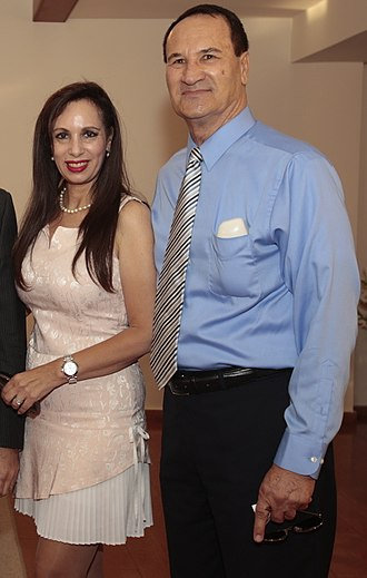 Tal Brody - Tal Brody with his wife Tirtza, 2015