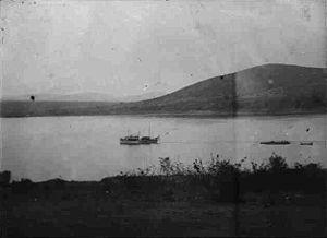 HMS Fifi - The Kingani on Lake Tanganyika before being captured.