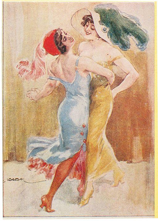 Tango NEP postcard 1920s
