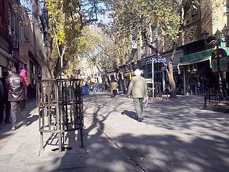 Tarbiat street - Image: Tarbiat Tabriz 2