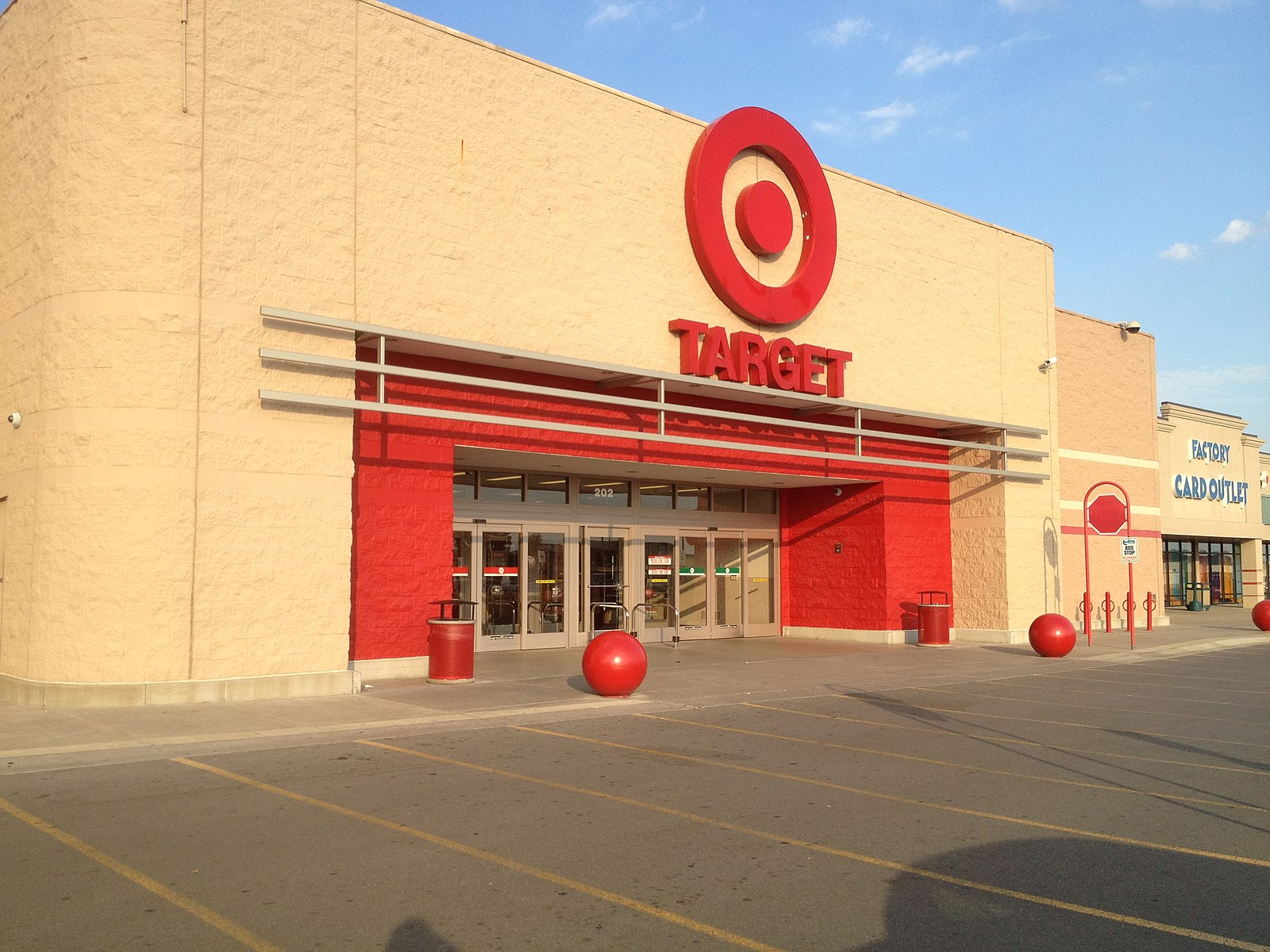 How to apply at target, the exterior of a Target retail store.