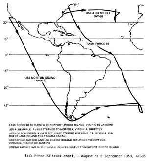 Operation Argus - Path of TF-88 during August and September 1958.