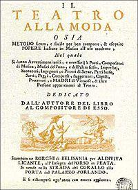 Frontispiece of Il teatro alla moda