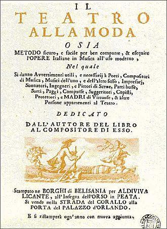 Antonio Vivaldi - Frontispiece of Il teatro alla moda