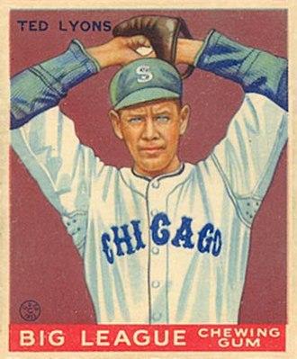 Ted Lyons - Lyons' 1933 Goudey baseball card.