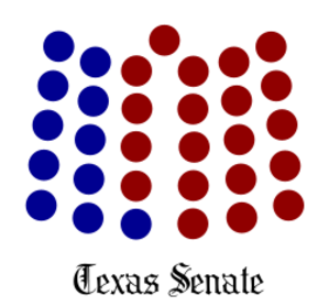 Texas Legislature - Image: Texas Senate Seating Diagram 2016