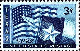 Republic of Texas - Texas statehood100th anniversary issue of 1945