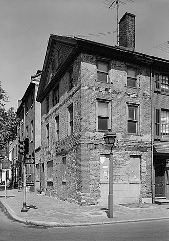Thaddeus Kosciuszko National Memorial - Thaddeus Kosciuszko House in May 1972, prior to restoration